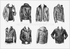 Clothing Study - Jackets 4 by Spectrum-VII jackets hoods leather open closed references male