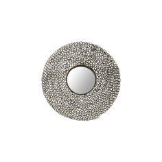 Jeweled Chain Mirror ($195) ❤ liked on Polyvore featuring home, home decor, mirrors, sun burst mirror, sun shaped mirror, wrought iron home decor, hand mirror and sunburst mirror