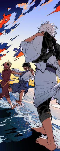 Gintama in Comic Verison. Manga Anime, All Anime, Manga Art, Me Me Me Anime, Anime Art, Gintama Funny, Gintama Wallpaper, Anime Rules, Okikagu