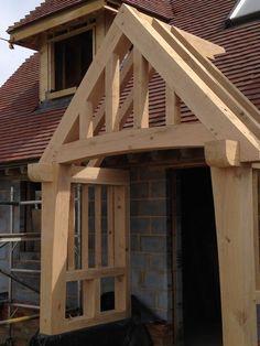 ideas for exterior entrance ideas log cabins Bungalows, Porch Timber, Porch Canopy, Border Oak, Roof Truss Design, Craftsman Decor, Oak Framed Buildings, Front Door Porch, House Shutters