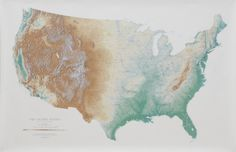 Topographic map of the United States  #myt