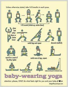 Baby wearing yoga :)