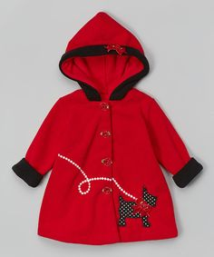 Red Dog Hooded Coat
