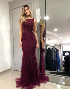 Grad Dresses, Prom Dresses Blue, Event Dresses, Formal Dresses, Mermaid Wedding Dress With Sleeves, Beautiful Gowns, Classy Outfits, Dress Patterns, Marie