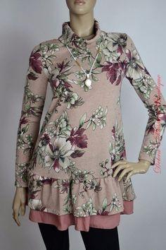 7eb6f604294 Babydoll Floral Plush Sweater Tunic Top - Mauve - Debra s Passion Boutique  - 1 Cowgirl Hats
