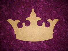Princess Crown Shape Wood Cut Out Wooden by ArtisticCraftSupply, $3.99