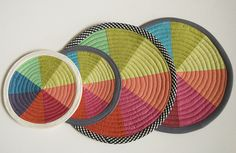 color wheel coasters and potholders/trivets