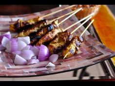Chicken Satay Recipe - Malaysian - Indonesian BBQ Skewers