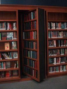 hidden door in bookshelf