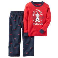 2-Piece Cotton & Fleece PJs 3t