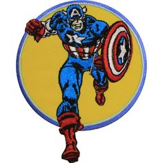 Official Marvel Comics Avengers Captain America Retro Iron on Applique Patch