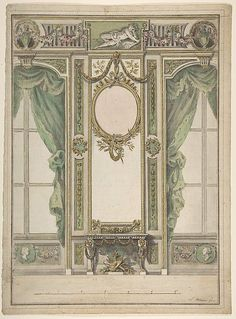Workshop of Leonardo Marini (Italian, ca. 1730–after 1797). Design for a Palace Interior, 1730–1797. The Metropolitan Museum of Art, New York. Gift of Leon Dalva Sr., 1965 (65.654.36).: