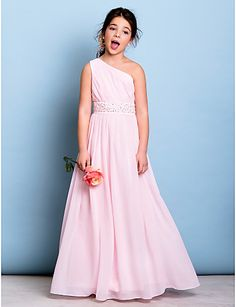 Lanting Bride® Ankle-length Chiffon Junior Bridesmaid Dress - Mini ...