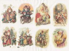 Rice Paper for Decoupage Decopatch Scrapbook Craft Sheet Vintage Friendly Santa2