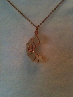 Seaglass and Copper Necklace  Cup Handle by SimplyDelighted2011, $18.00