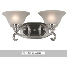 Welles Vanity has a silhouette that is compact and is available in Brushed Steel or Oil Rubbed Bronze finish.  Glass shades, bell shaped balance delicately on sweeping curves.