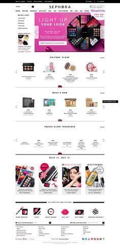 Sephora Desktop Home Page Sephora, Christmas 2014, Desktop