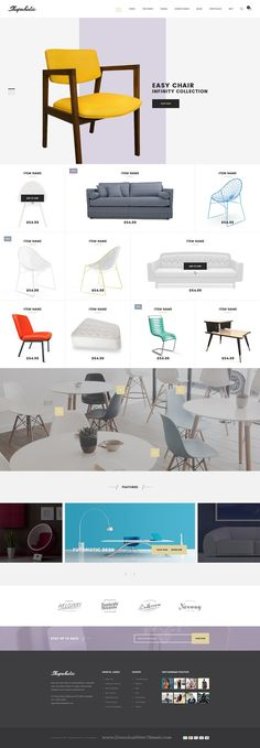 Shopaholic is a Professionally designed eCommerce PSD Template comes with 11 stunning homepage layouts. #furniture #website