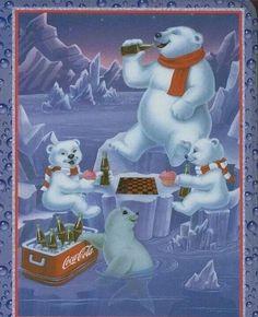 Coke cola polar bear