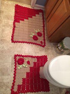 Patterned Bathroom Rug Sets Bath Rugs Vanities Pinterest - Patterned bathroom rugs for bathroom decorating ideas