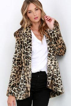 Don't be surprised when the paparazzi swarm to get a shot of you in the gorgeous Amuse Society Teagan Leopard Print Faux Fur Coat! A luxurious collar tops this soft, leopard print coat with long sleeves and a front that fastens via gunmetal buttons. Vertical front pockets. Fully lined. Self: 80% Acrylic, 20% Polyester. Lining: 100% Polyester. Dry Clean Only. Imported.
