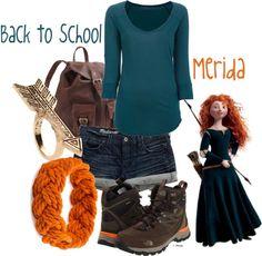 """Back to School: Merida"" by jami1990 ❤ liked on Polyvore"