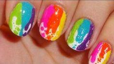 Dripping paint nail art