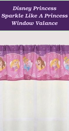 Disney Princess Sparkle Like a Princess Window Valance | Disney Princess Curtains |  Disney Princess Bedroom   | Disney Princess Wall Mural | Disney Princess Nursery Decor. #bedroominspiration #Products Disney Princess Curtains, Disney Princess Nursery, Teenage Girl Bedrooms, Girls Bedroom, Valance, Wall Murals, Nursery Decor, Sparkle, Windows
