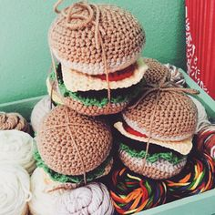 This hamburger is actually seven separate pieces and makes a perfect toy for the toddler- or burger lover- in your life, and I have four ready to ship ASAP!