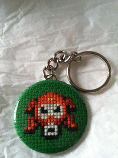 Octorock Legend of Zelda Cross Stitch Button by GeekyButtonGuy, $12.00