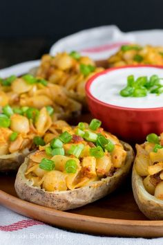 Chipotle Shells and Cheese Potato Skins @FoodBlogs