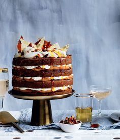 Watch the making of the Gourmet Traveller 50th birthday cover cake: a beautiful ginger whiskey cake with burnt white chocolate ganache.