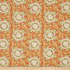 Michael Miller Strawberry Moon Clover Crown Peach from @fabricdotcom  Designed…