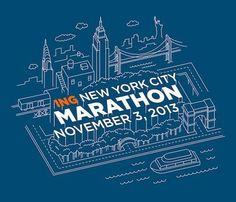 The 2013 New York City Marathon shirt design