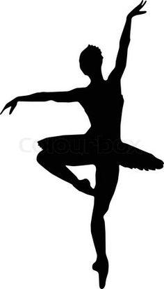 Vektor af 'Dans, pige, ballet , silhuetter'
