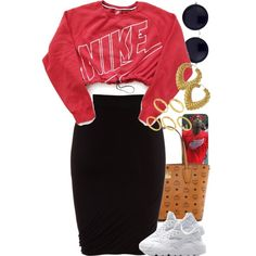 A fashion look from September 2015 by power-beauty featuring NIKE, T By Alexander Wang, MCM, ASOS and The Row