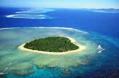 Tavarua Island, a heart shaped island in the South Pacific. Repin for Valentine's Day!