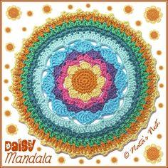 Daisy Mandala ~ free pattern ᛡ