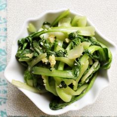 gingery bok choy! tried this last night and was pretty good. use soy sauce instead of salt, would have been better.