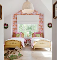 Beautiful bedroom with wallpaper from Manuel Canovas (Bengale). Natalie Toy Interior Design: June 2013