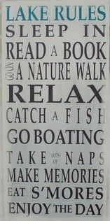 Lake Rules #diy #home #decor #sign #plaque #quote #wall art