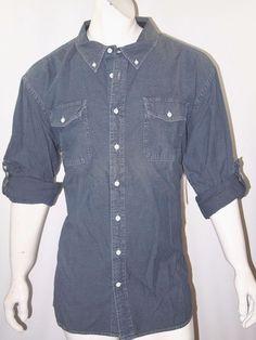 Tommy Hilfiger chambray denim long sleeve slim fit shirt size xxl NEW  #TommyHilfiger #ButtonFront