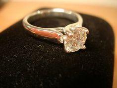 Brilliant cut, round diamond engagement ring Round Diamond Engagement Rings, 1 Carat, Round Diamonds, Heart Ring, Future, Random, Beautiful, Jewelry, Future Tense