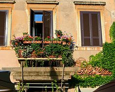 Home over the restaurant,Piazza Navona, Rome