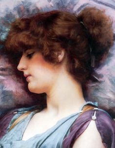 Far Away Thoughts by John William Godward, 1892