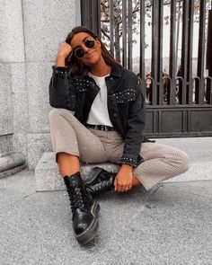 how to make outfits Spring Outfits, Winter Outfits, Casual Outfits, Outfits Otoño, Look Fashion, Winter Fashion, Fashion Outfits, Look Vintage, Festival Looks