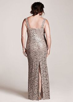 Sleeveless Sequin Lace Mother of Bride/Groom Dress with Capelet Style 3112DW,...