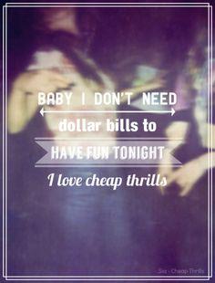 Sia- Cheap Thrills
