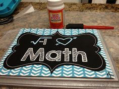 Live. Love. Math.: Monday Made It -- Wood Plaque Posters Great crafty idea for fun classroom decor!
