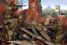 Estadounidenses combatiendo en Italia, por Johnny Shumate.  Más en www.elgrancapitan.org/foro